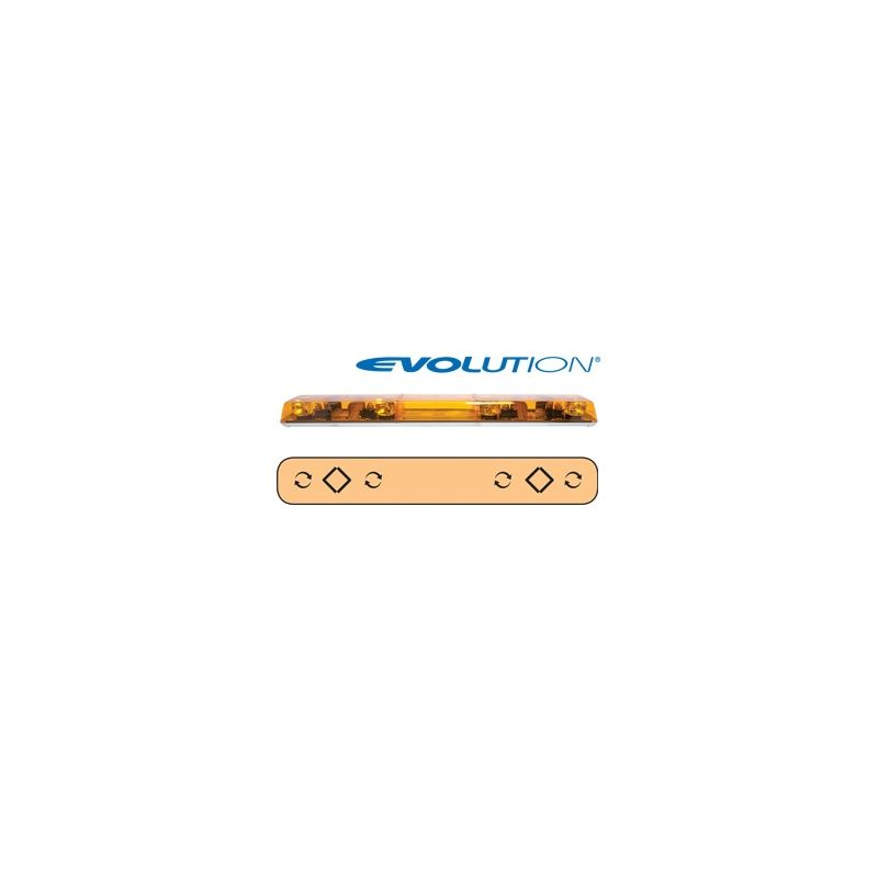 "6543002 54"" Evolution 4-Rotator Amber Lightba"