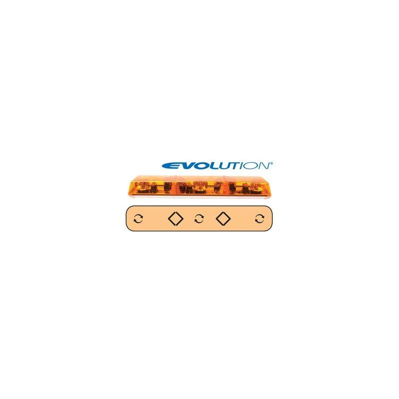 "6363001 36"" Evolution 3-Rotator Amber Lightba"