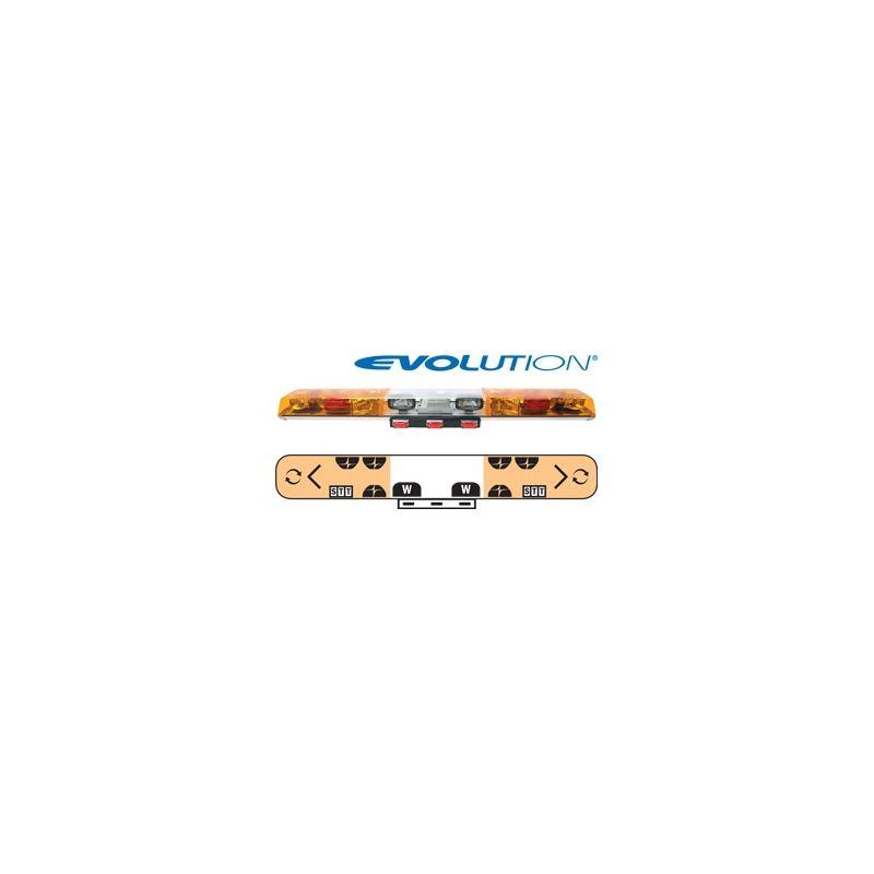 "6603060 60"" Evolution 2-Rotator Amber/Clear/A"