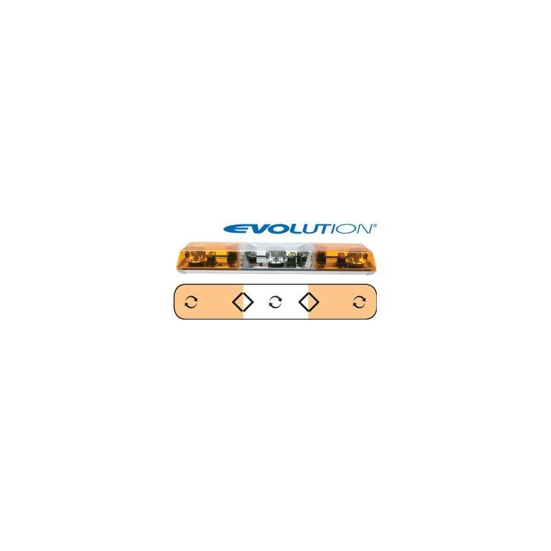 "6363011 36"" Evolution 3-Rotator Amber Lightba"