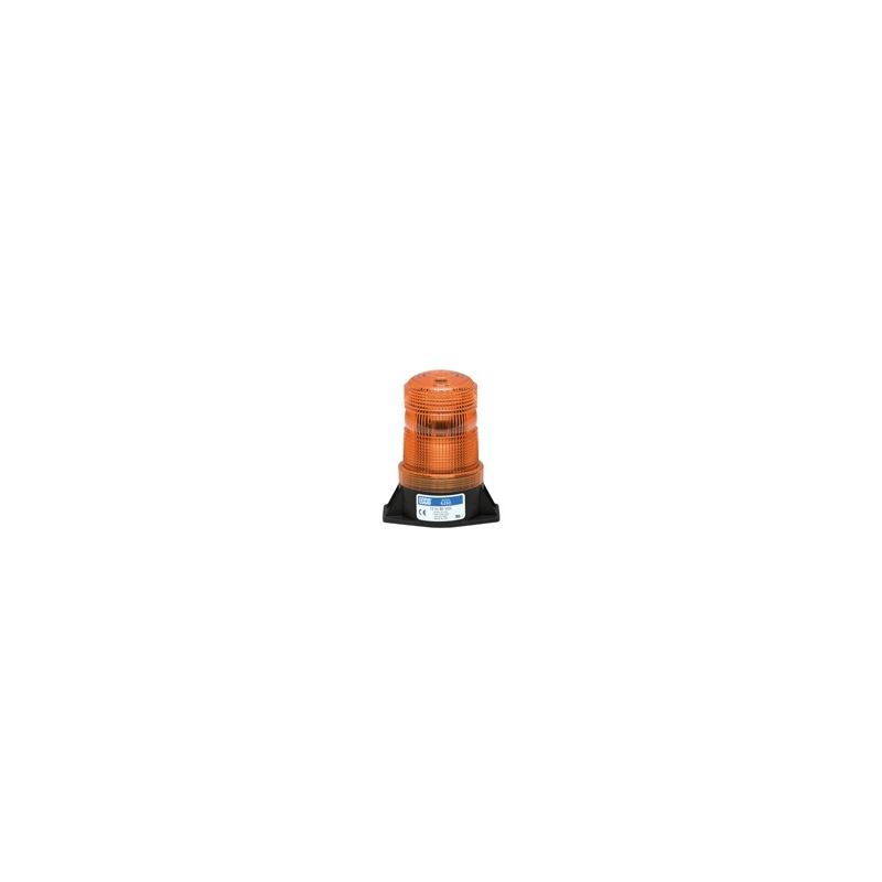6263A 2-Bolt Amber Bottom-Wire-Exit Beacon