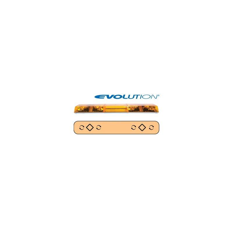 "6483002 48"" Evolution 4-Rotator Amber Lightba"