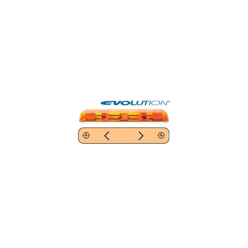 """6363003 36"""" Evolution 2-Strobe Amber Lightbar"""